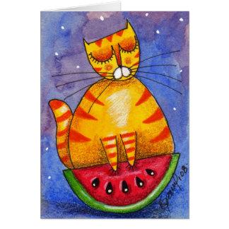 Watermelon Boat - Card