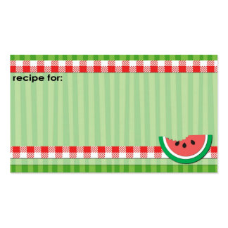 Watermelon business size recipe cards Double-Sided standard business cards (Pack of 100)
