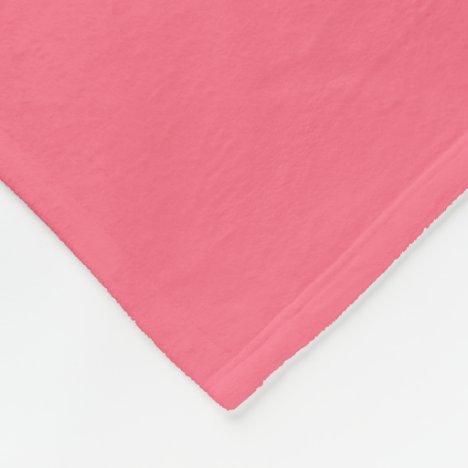 Watermelon Candy-Colored Fleece Blanket