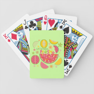 Watermelon Cantaloupe Fruit Sweet Health Fresh Bicycle Playing Cards