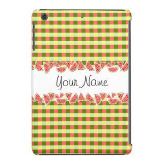 Watermelon Check Classic Name iPad Mini case