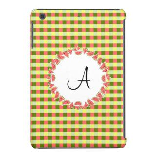 Watermelon Check Monogram iPad Mini case