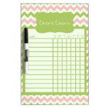 Watermelon Chevron Chore Chart Dry-Erase Board