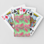 Watermelon Chevron Pattern Bicycle Playing Cards