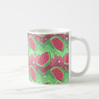 Watermelon Chevron Pattern Coffee Mug