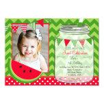 Watermelon Chevron Pendants Party Birthday Card