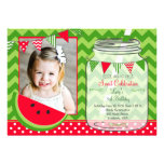 Watermelon Chevron Pendants Party Birthday Cards