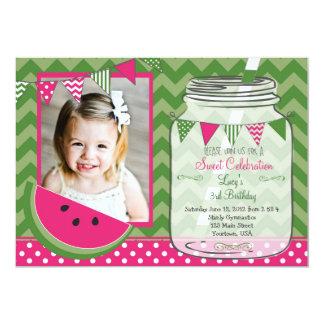 Watermelon Chevron Pendants Party Birthday Invitations