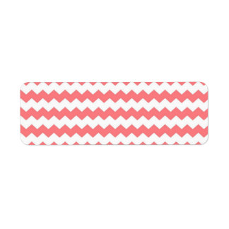 Watermelon chevron return address labels