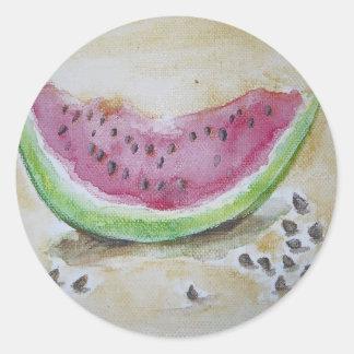 Watermelon Classic Round Sticker