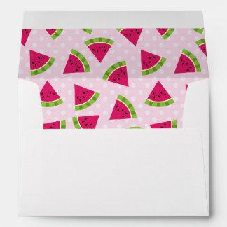 Watermelon color envelope