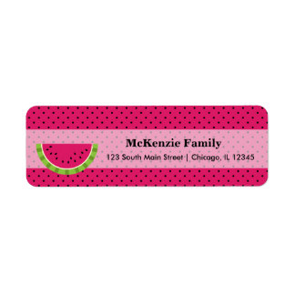 Watermelon color label