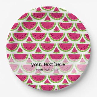 Watermelon color paper plate