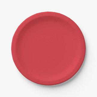 Watermelon-Colored Paper Plates 7 Inch Paper Plate