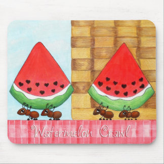 Watermelon Crawl Mouse Pad