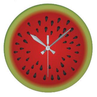 Watermelon Cutaway Round Clock