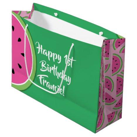 Watermelon Cute 1st Birthday Gift Bag