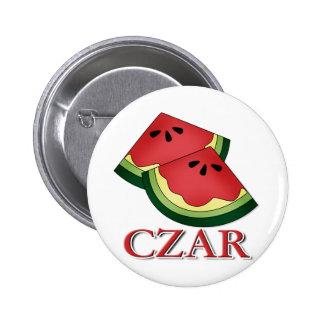 Watermelon Czar 2 Inch Round Button
