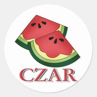 Watermelon Czar Classic Round Sticker