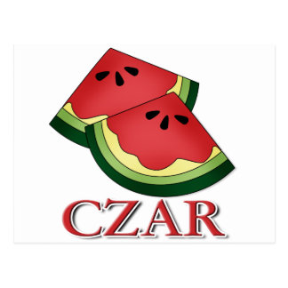 Watermelon Czar Postcard