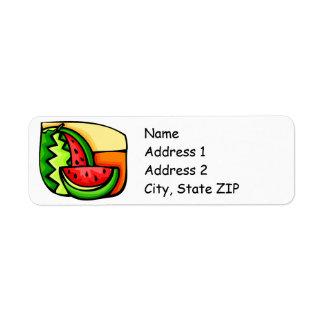 Watermelon Day August 3 Custom Return Address Label
