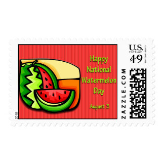 Watermelon Day August 3 Postage Stamps