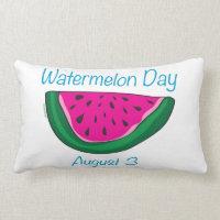 Watermelon Day Lumbar Pillow