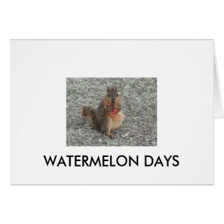 WATERMELON DAYS CARD
