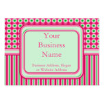 Watermelon Dots & Stripes Business Cards