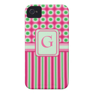 Watermelon Dots Stripes iPhone 4 Case