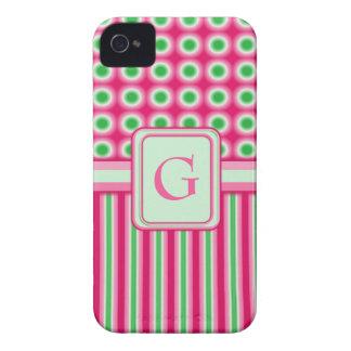 Watermelon Dots & Stripes iPhone 4 Case-Mate Case