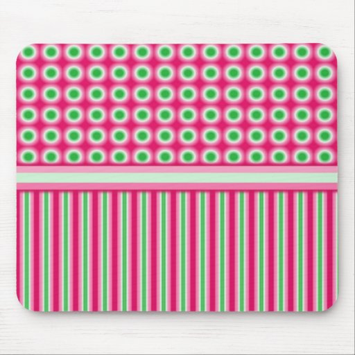 Watermelon Dots & Stripes Mousepad