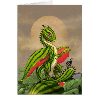 Watermelon Dragon.jpg Greeting Card