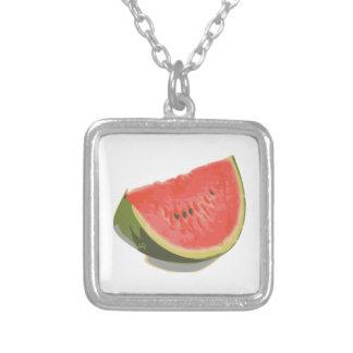 Watermelon Dream Square Pendant Necklace