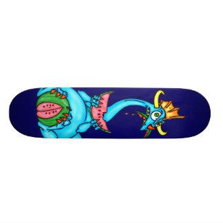 Watermelon Eating Dragon Skateboard Deck