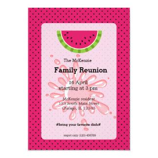 Watermelon family reunion card