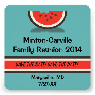 Watermelon Family Reunion Save the Date Custom Announcements