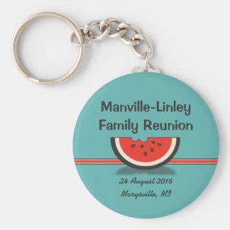 Watermelon Family Reunion Souvenir Keychain
