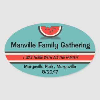 Watermelon Family Reunion Souvenir Stickers