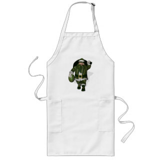 Watermelon Farmer Santa Claus Long Apron