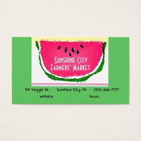 Watermelon Farmers Market Business Cards
