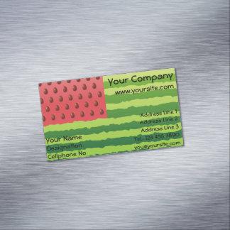 Watermelon Flag Business Card Magnet