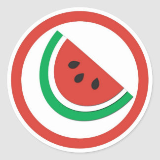 Watermelon flavor circle sticker labels