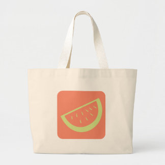 Watermelon Fruit Icon Large Tote Bag