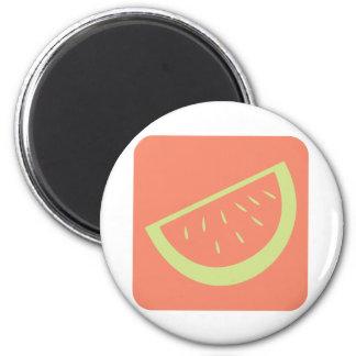 Watermelon Fruit Icon 2 Inch Round Magnet