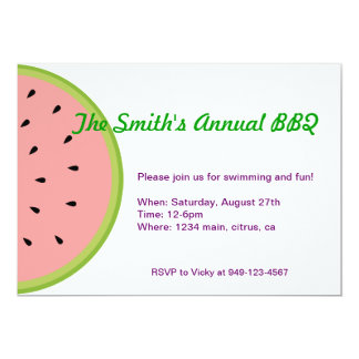 Watermelon Fruit Invite