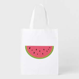 Watermelon Fruit Sweet Health Red Half Grocery Bag