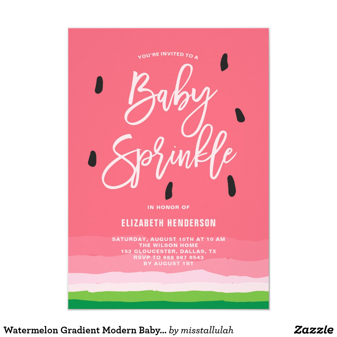Watermelon Gradient Modern Baby Sprinkle