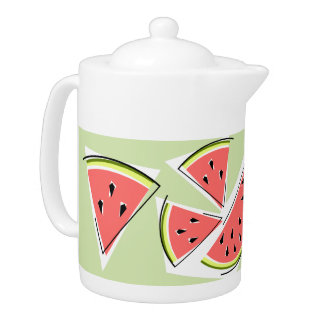 Watermelon Green Line teapot