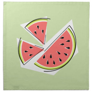 Watermelon Green Pieces napkins cloth